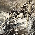 The Rhinemaidens Obtain Possession Of The Ring And Bear It Off In Triumph by Arthur Rackham