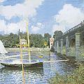The Road Bridge at Argenteuil Print by Claude Monet