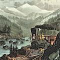 The Route To California by Currier and Ives