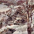 The Russians Fighting Their Way Over The Carpathians by Cyrus Cuneo