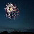 West Virginia Day Fireworks Show Begins Print by Howard Tenke