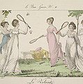 The Shuttlecock, Plate 11 From Le Bon Print by French School