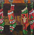 The Stockings Print by Gloria  Nilsson