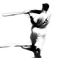 The Swing   Joe Dimaggio by Iconic Images Art Gallery David Pucciarelli