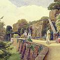 The Terrace At Berkeley Castle by George Samuel Elgood