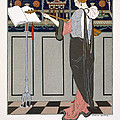 The Theorbo Player by Georges Barbier