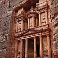 The Treasury In Petra Jordan by Robert Preston