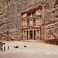 the treasury Nabataean ancient town Petra by Juergen Ritterbach