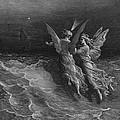 The Two Fellow Spirits Of The Spirit Of The South Pole Ask The Question Why The Ship Travels  by Gustave Dore