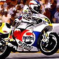 The Unleashing   Kevin Schwantz by Iconic Images Art Gallery David Pucciarelli