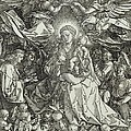 The Virgin And Child Surrounded By Angels by Albrecht Durer or Duerer