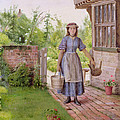 The Young Milkmaid by George Goodwin Kilburne