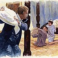 Theodore Roosevelt Playing with his Two Youngest Boys Print by Rob Wood
