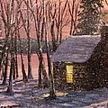 Thoreau's Cabin Print by Jack Skinner