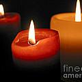 Three Burning Candles by Elena Elisseeva