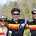 Three Gran Fondo Riders by Susan Leggett