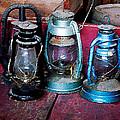 Three Kerosene Lamps by Susan Savad