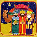 Three Kings And Camel by Linda Benton