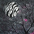 Three Moons Series - Zebra Moon by Oddball Art Co by Lizzy Love