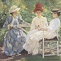 Three Sisters-a Study In June Sunlight by Edmund Charles Tarbell