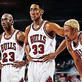 Threepeat - Chicago Bulls - Michael Jordan Scottie Pippen Dennis Rodman by Prashant Shah