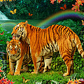Tiger Love Tropical by Alixandra Mullins