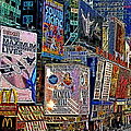 Time Square New York 20130503v9 Square by Wingsdomain Art and Photography