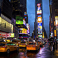 Times Square In The Rain by Garry Gay