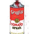 Tomato Spray Can Print by Gary Grayson
