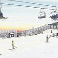 Top Of The Mountain At Seven Springs by Albert Puskaric