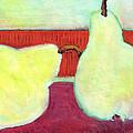 Touching Pears Art Painting by Blenda Studio