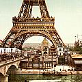 Tour Eiffel And Exposition Universelle Paris by Georgia Fowler