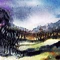 Towards the misty bogland  Print by Trudi Doyle