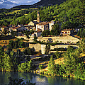 Town Of Sisteron In Provence by Elena Elisseeva