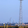 Town Quay Navigation Marker And Fawley by Terri Waters