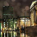Trafalgar Square Rain by Heidi Hermes