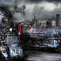 Train - Engine - 1218 - Waiting For Departure by Mike Savad