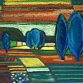 Trees Of Blue by Gergana Valkova