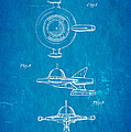Tremulis Spaceship Hood Ornament Patent Art 1951 Blueprint by Ian Monk