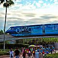 Tron Monorail At Walt Disney World by Thomas Woolworth