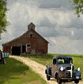 Trucks And Barn Print by Jack Zulli