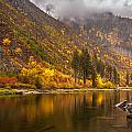 Tumwater Canyon Fall Serenity by Mike Reid