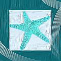Turquoise Seashells Xvi by Lourry Legarde