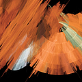 Tutu Stage Left Peach Abstract by Andee Design