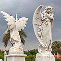 Two Angels With Cross by Terry Reynoldson