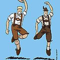 Two Bavarian Lederhosen Men by Frank Ramspott