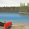 Two Canoes Print by Kenneth M  Kirsch