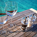 Two Glasses at the Blue Lagoon