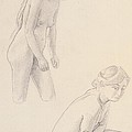 Two Nudes  by Felix Edouard Vallotton