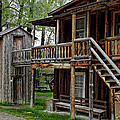 Two Story Outhouse - Nevada City Montana by Daniel Hagerman